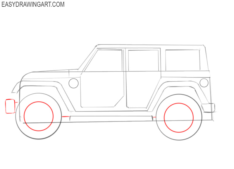 how to draw a cool jeep