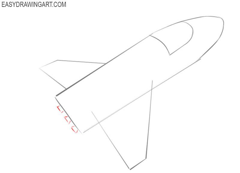spaceship drawing tutorial for beginners