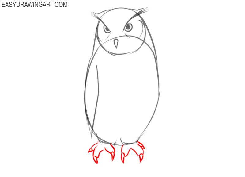 how to draw an owl cute