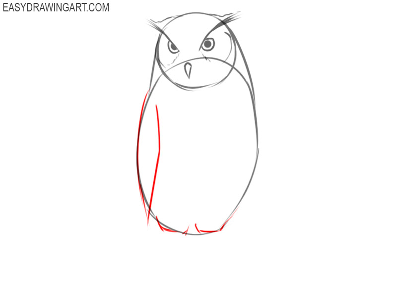 how to draw an owl step by step with pictures