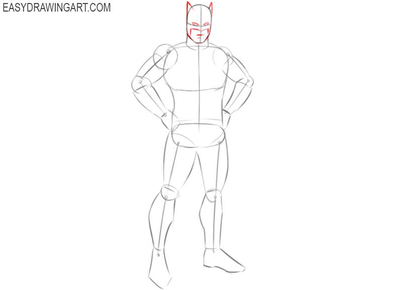 how to draw batman cute