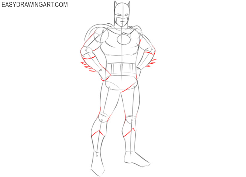 how to draw batman easy and cute