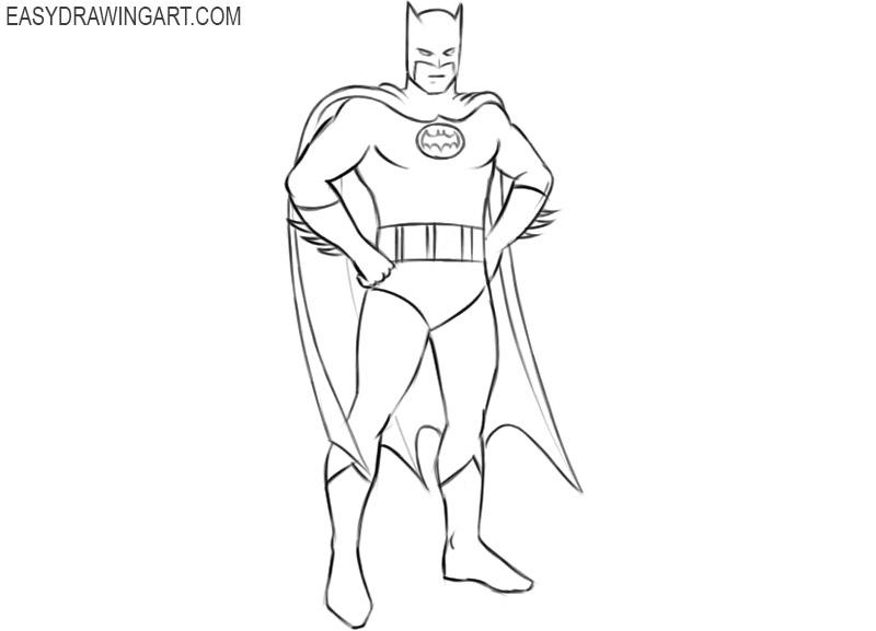 how to draw batman original