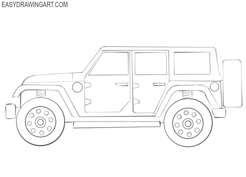 jeep car drawing