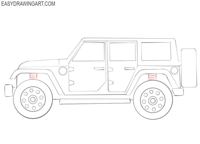 jeep drawing cartoon