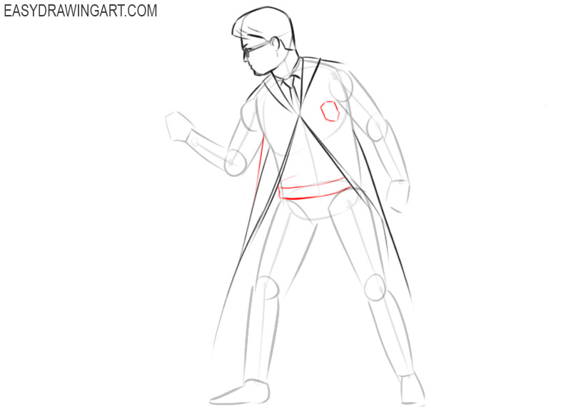How to draw Harry Potter with a wand