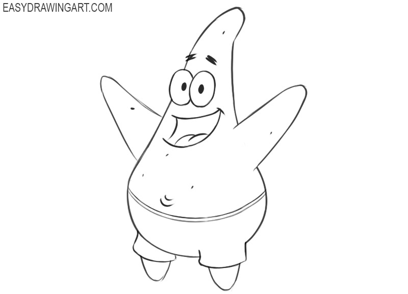 Patrick Star drawing tutorial