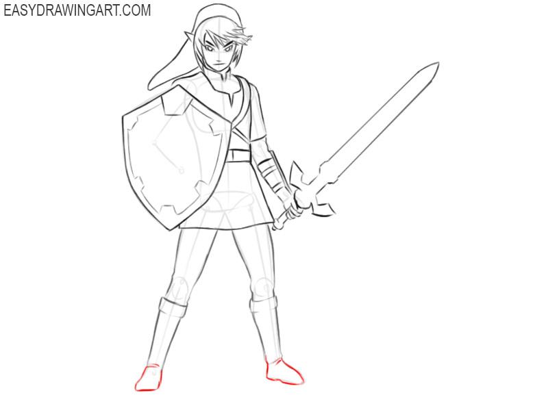 drawing link from zelda