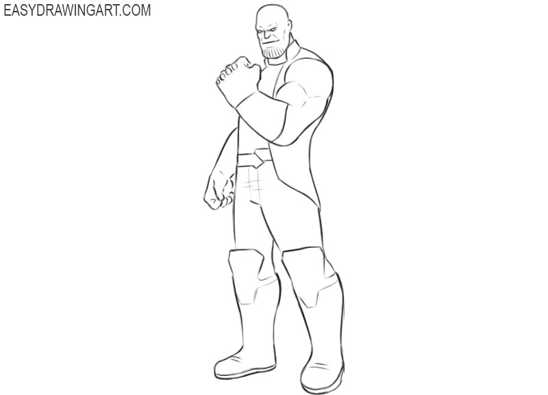 how to draw thanos easy step by step
