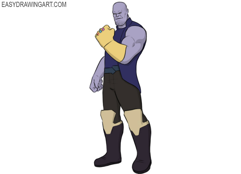 how to draw thanos easy