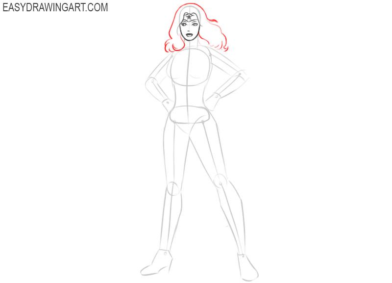 how to draw wonder woman comic