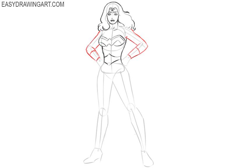 how to draw wonder woman draw it too