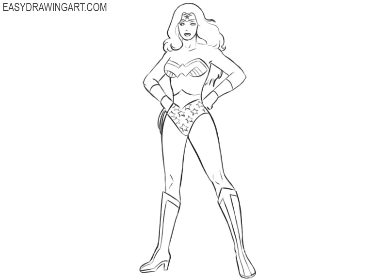 how to draw wonder woman from justice league