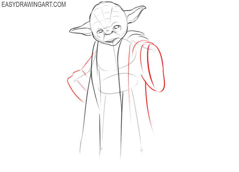 how to draw yoda step by step for beginners