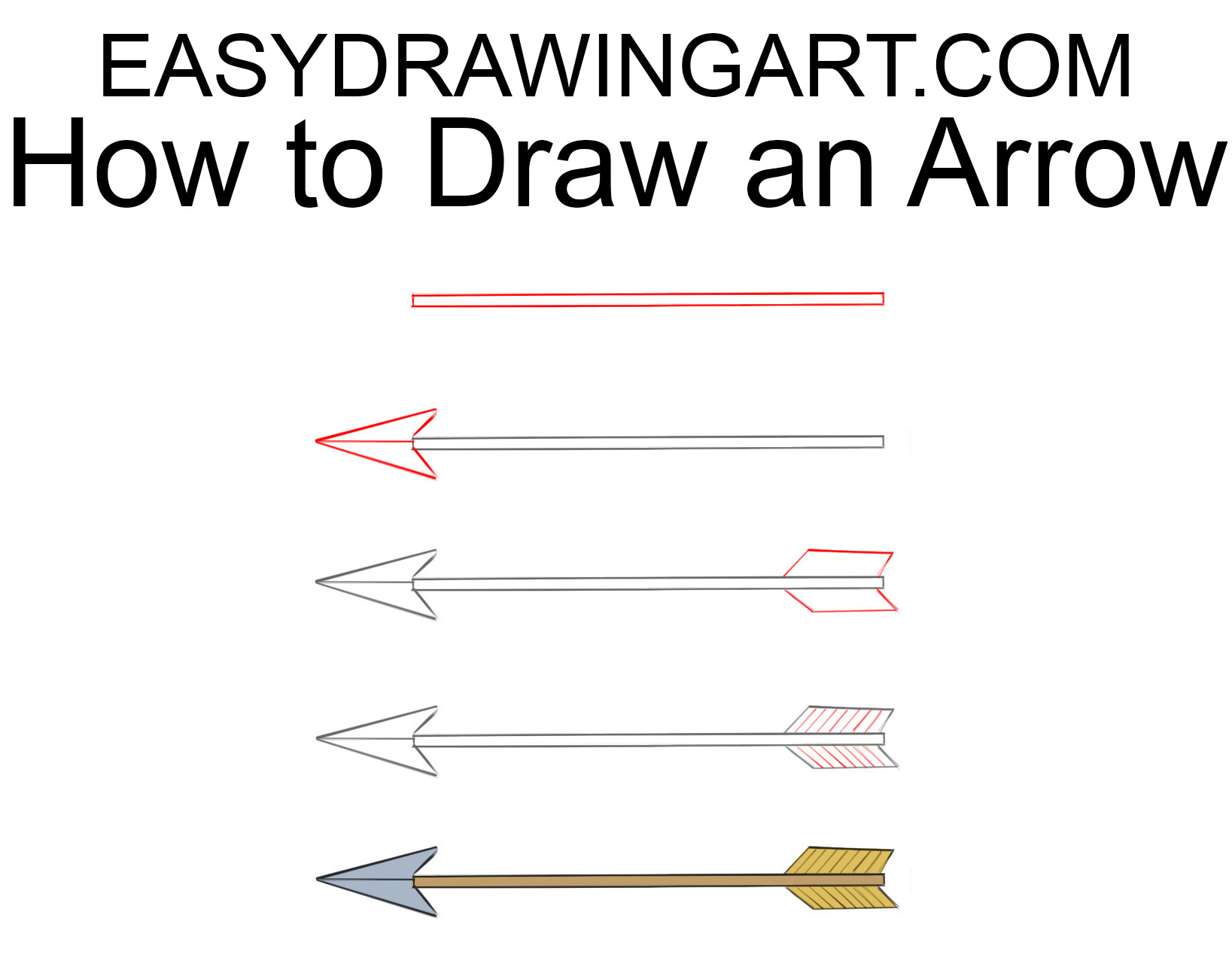 How to draw an arrow easy