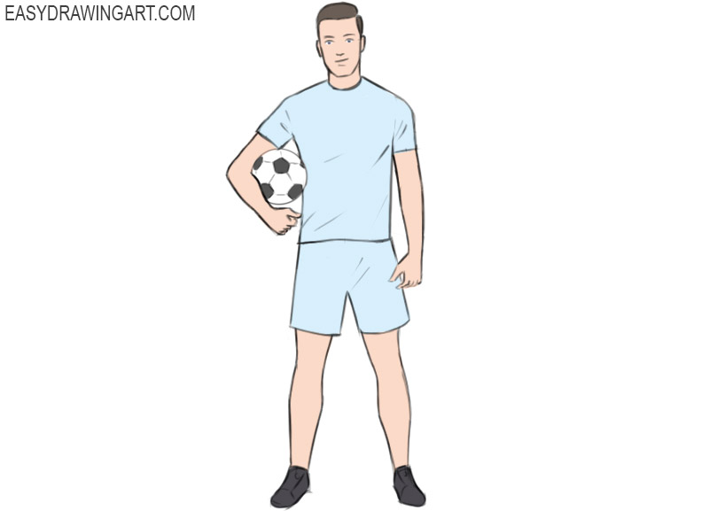 How To Draw A Football Player Easy Drawing Art