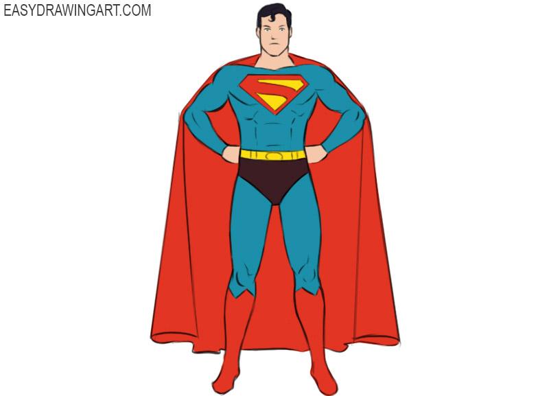 How to draw a Superhero