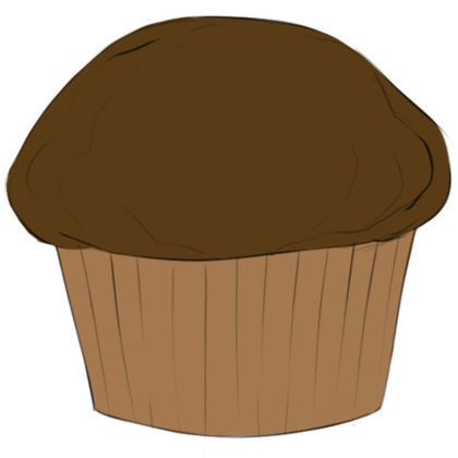 How to draw a cupcake