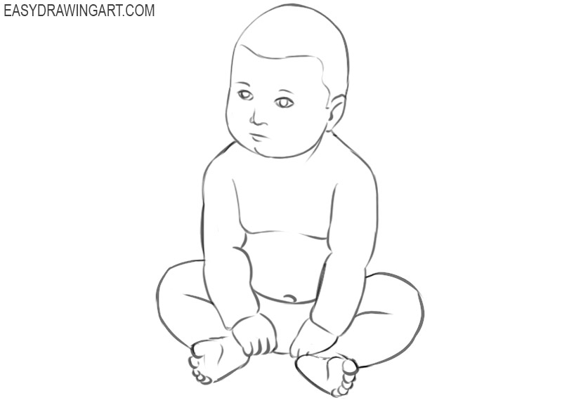 a baby drawing easy