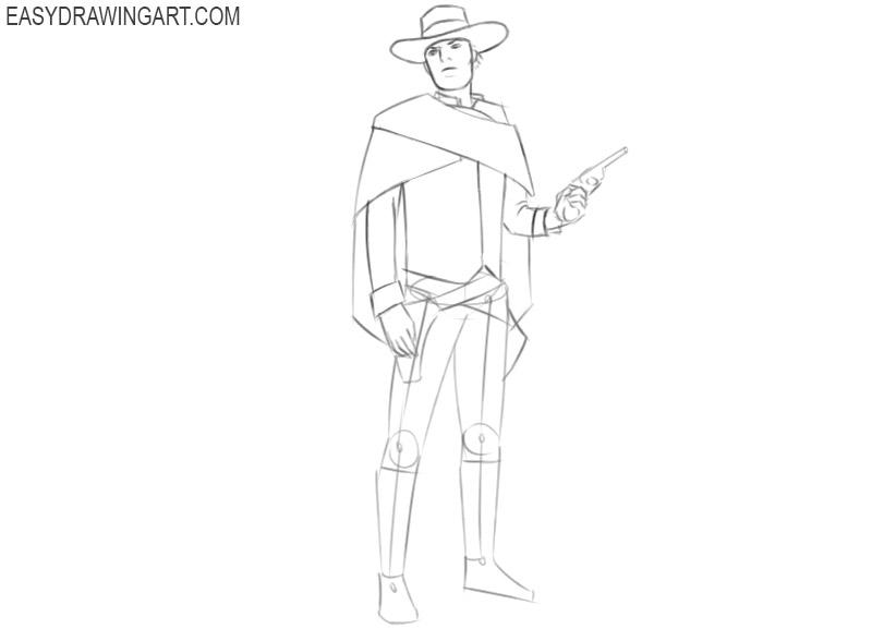 a cowboy drawing