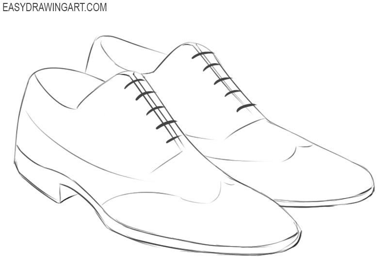 a pair of shoes drawing