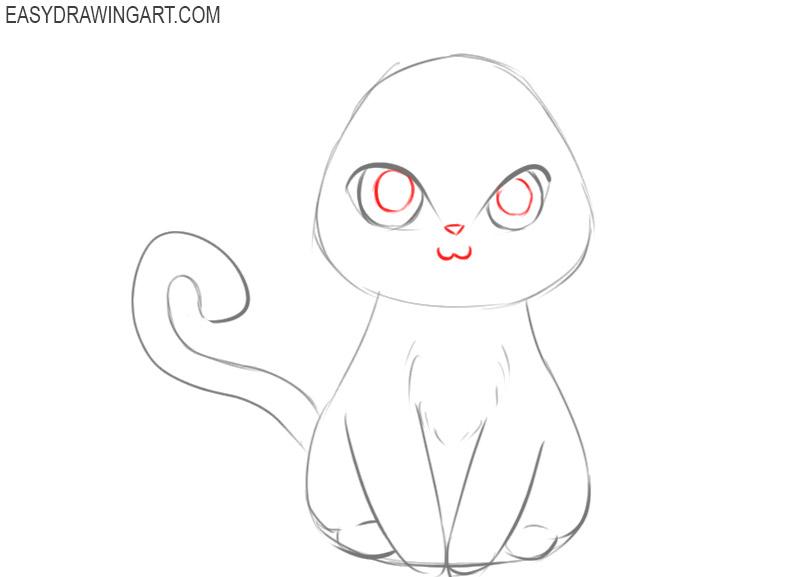 anime animal drawings easy