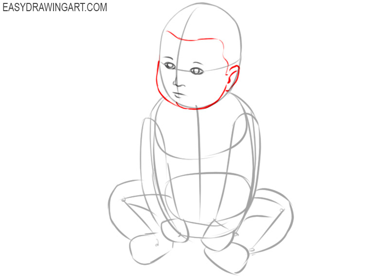 baby drawing cartoon