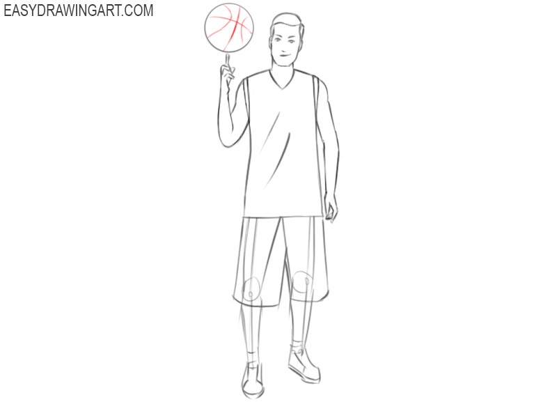 basketball player drawing images