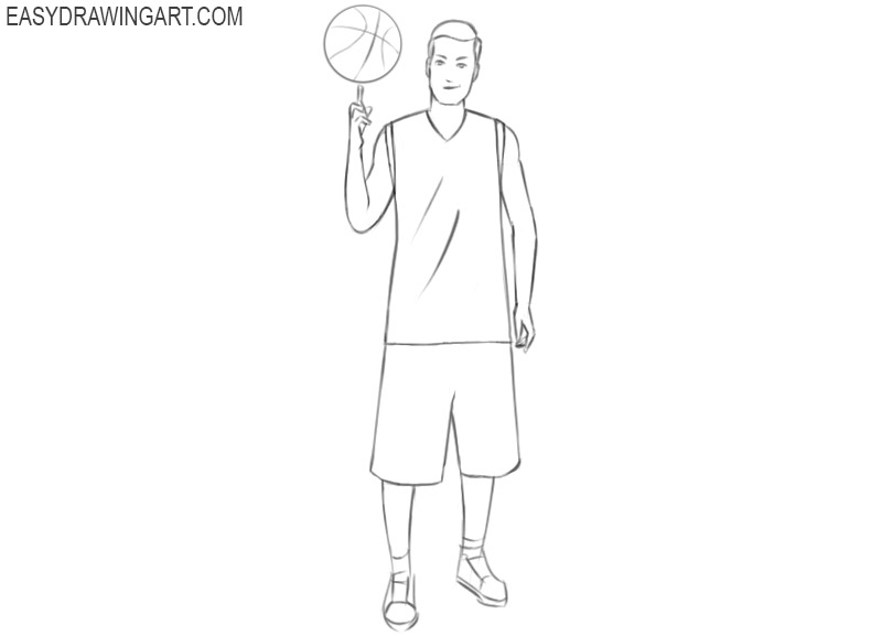 basketball player drawings pictures