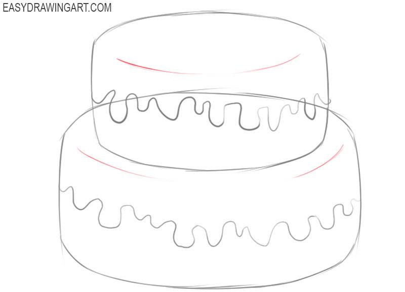 cake drawing tutorial