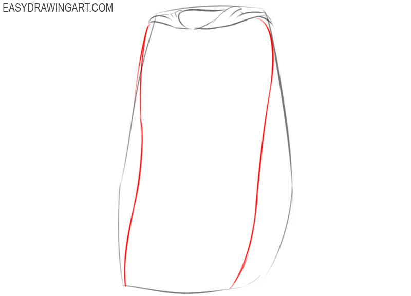 cape drawing easy