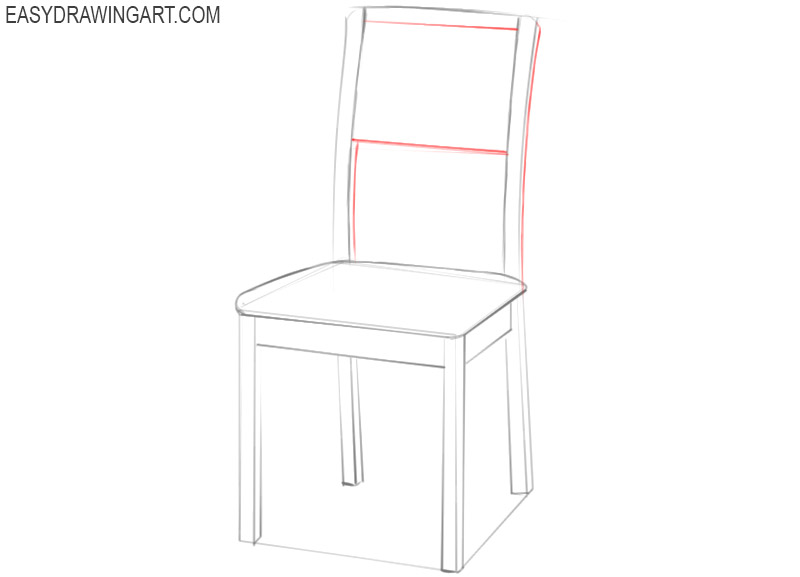 chair drawing easy