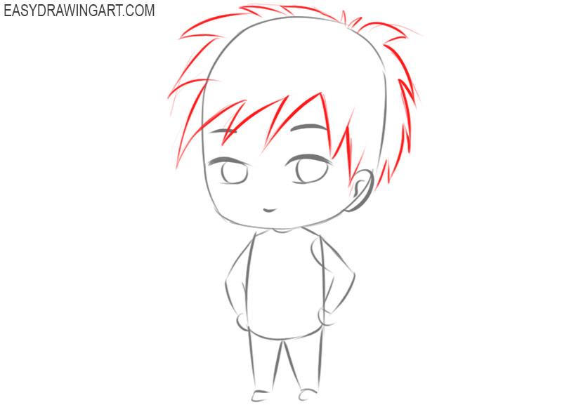 chibi cartoon character drawings