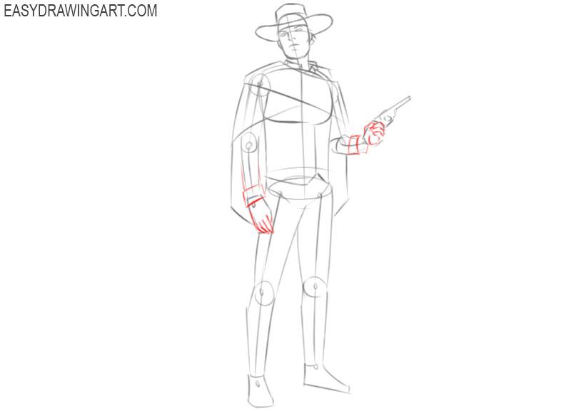 cowboy drawing cartoon