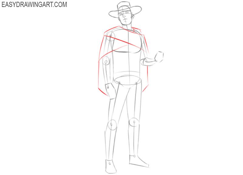 cowboy drawings pencil
