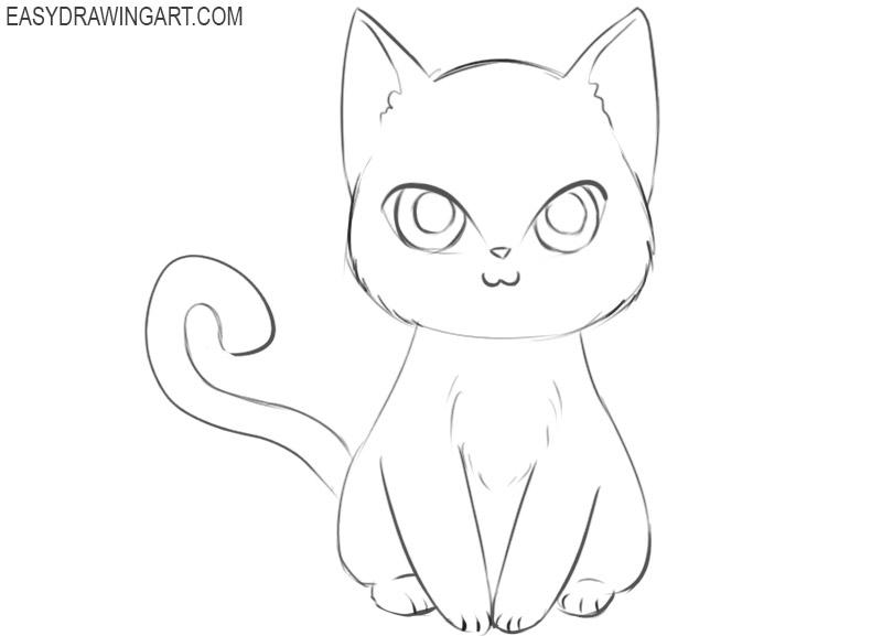 cute anime animal drawing