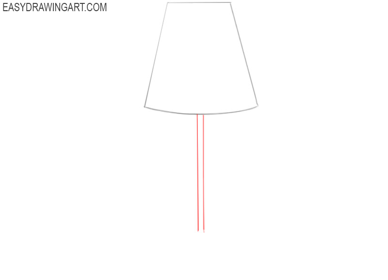 draw a lamp and colour it