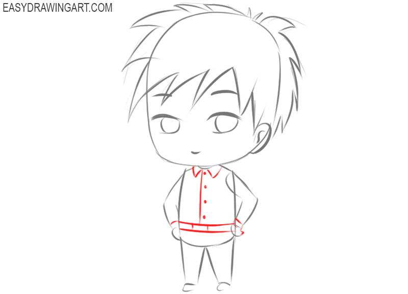 drawing a male chibi character