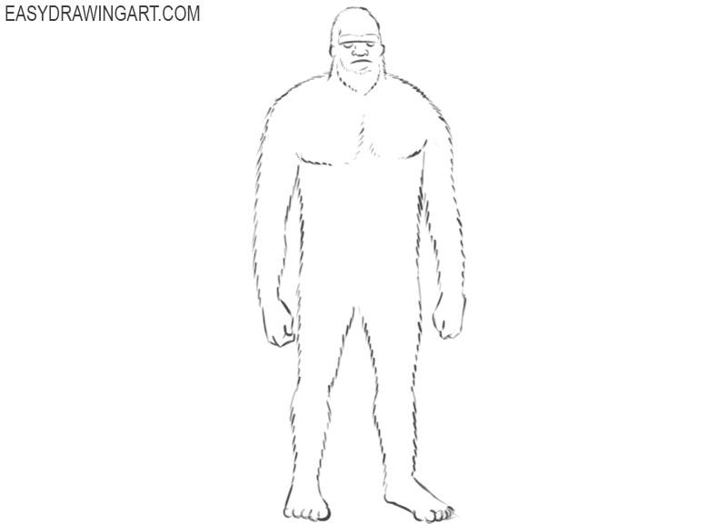 drawing of sasquatch