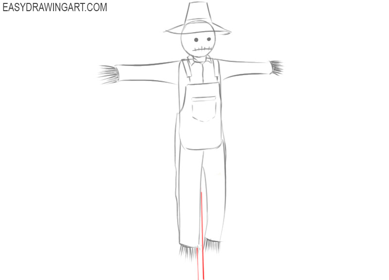 drawing of scarecrow step by step