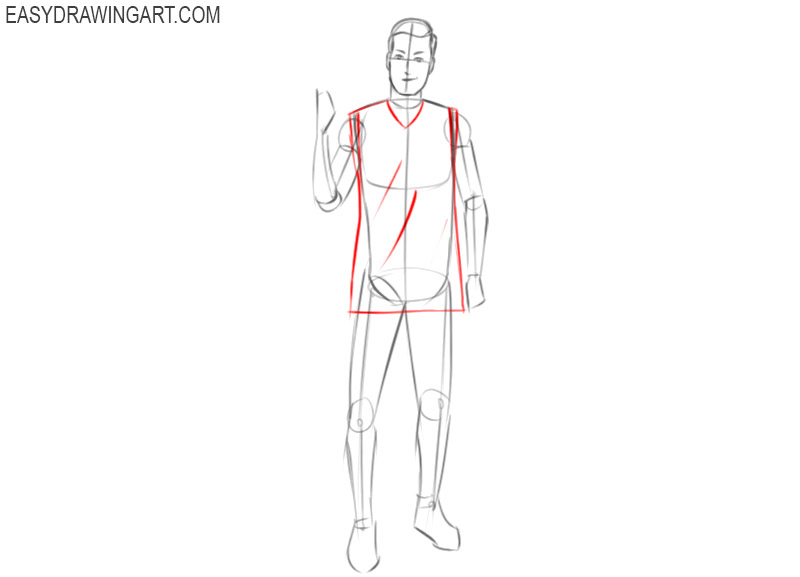 easy way to draw basketball player