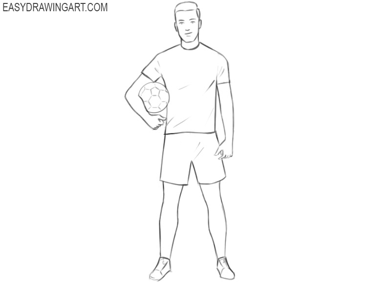 football player cartoon drawing