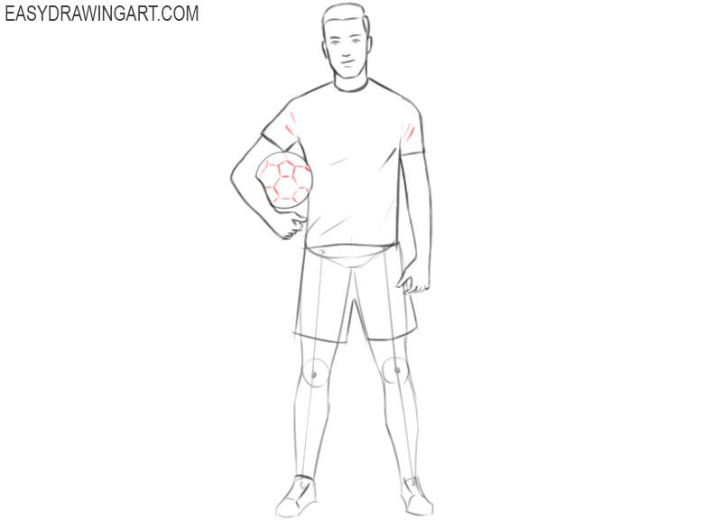 football player drawing tutorial