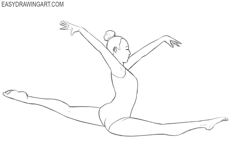 gymnast drawing picture