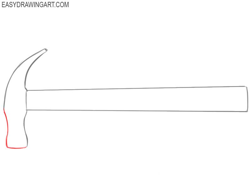 how do you draw a cartoon hammer
