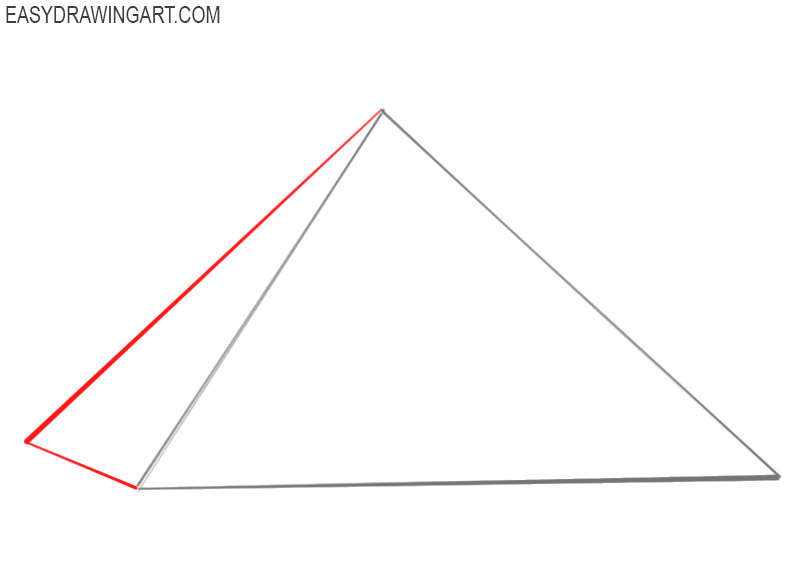 how to draw a ancient pyramid