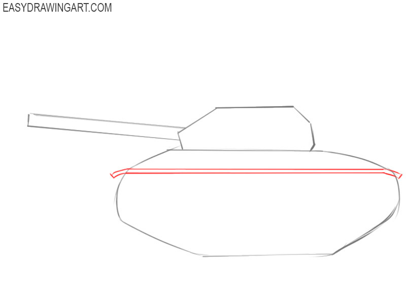 how to draw a army tank step by step