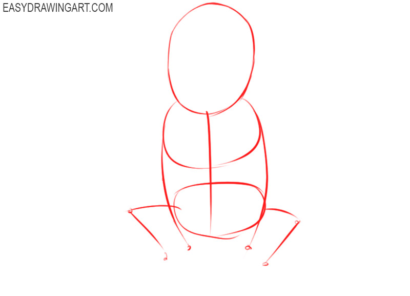 how to draw a baby cartoon