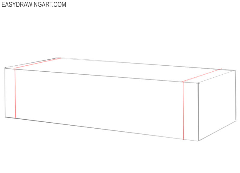 how to draw a basic couch
