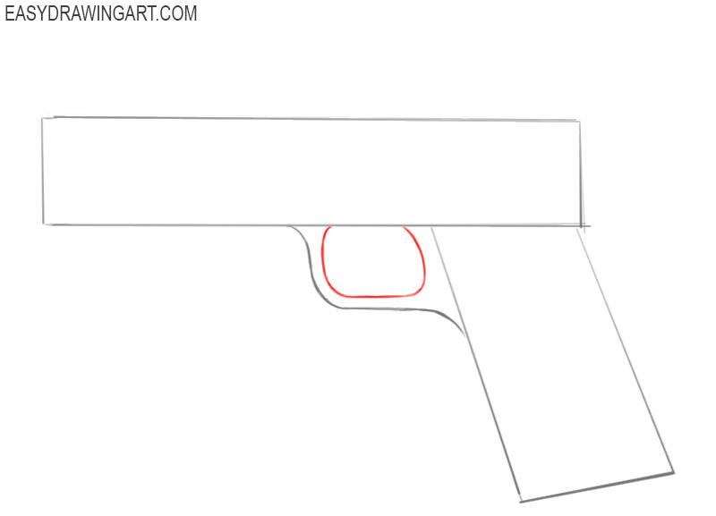 how to draw a basic gun